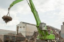 "New SENNEBOGEN 855 M ""Green Hybrid"" Scrap Handler Builds Capacity and Reliability for Nucor's Birmingham Mill"